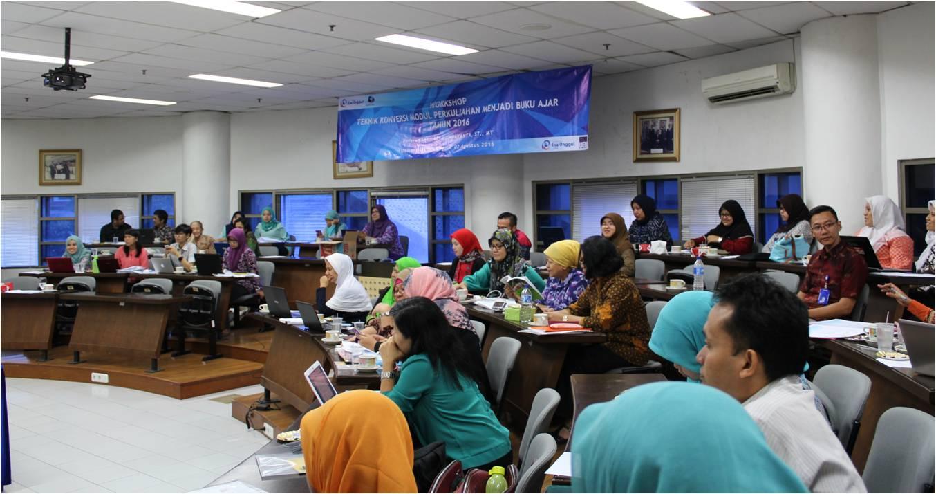 Workshop Teknik Konversi Modul Perkuliahan Menjadi Buku Ajar Tahun 2016