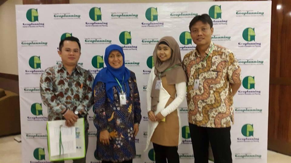 "Program Studi Planologi Dalam International Conference ""The 1st Geoplaning International Conference on Geomatics and Planning"" Bali 2016"