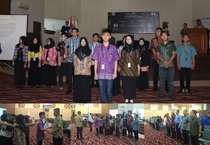 Pengurus Himpunan Pengusaha Muda Indonesia (HIPMI) Universitas Esa Unggul dilantik oleh Ketua Umum HIPMI JAYA, Iskandarsyah Ramadhan Datau.