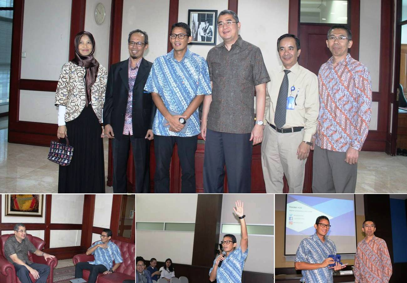 Kuliah Umum di Fakultas Ilmu Komunikasi, Sandiaga Uno Cagub DKI Jakarta