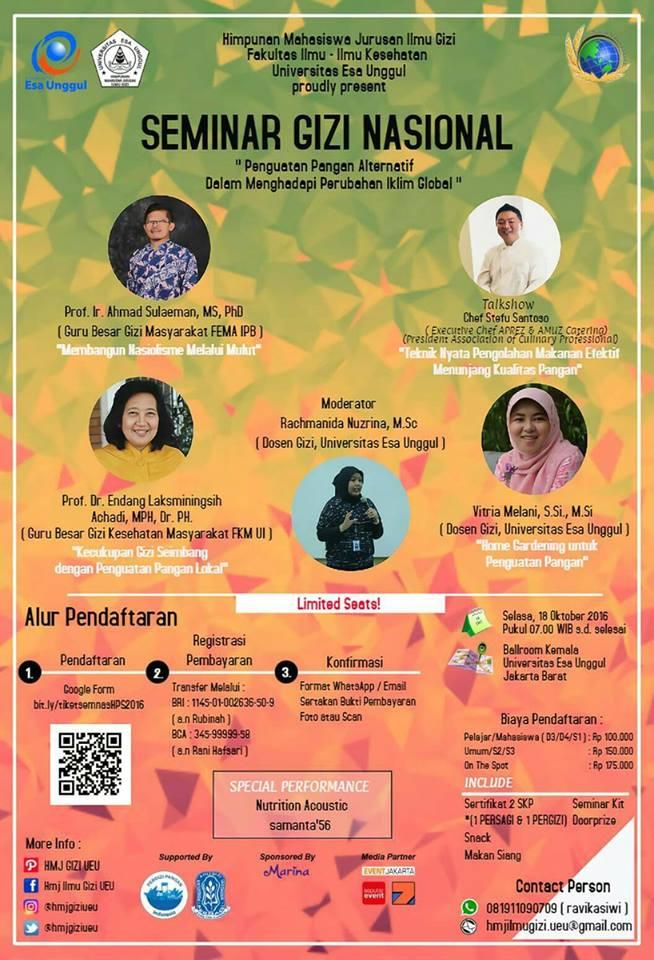 Seminar Gizi Nasional Hari Pangan Sedunia