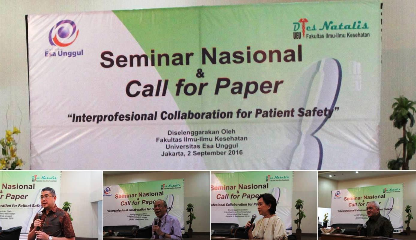 Fakultas Ilmu Kesehatan Universitas Esa Unggul Menggelar Seminar Keselamatan Pasien Rumah Sakit