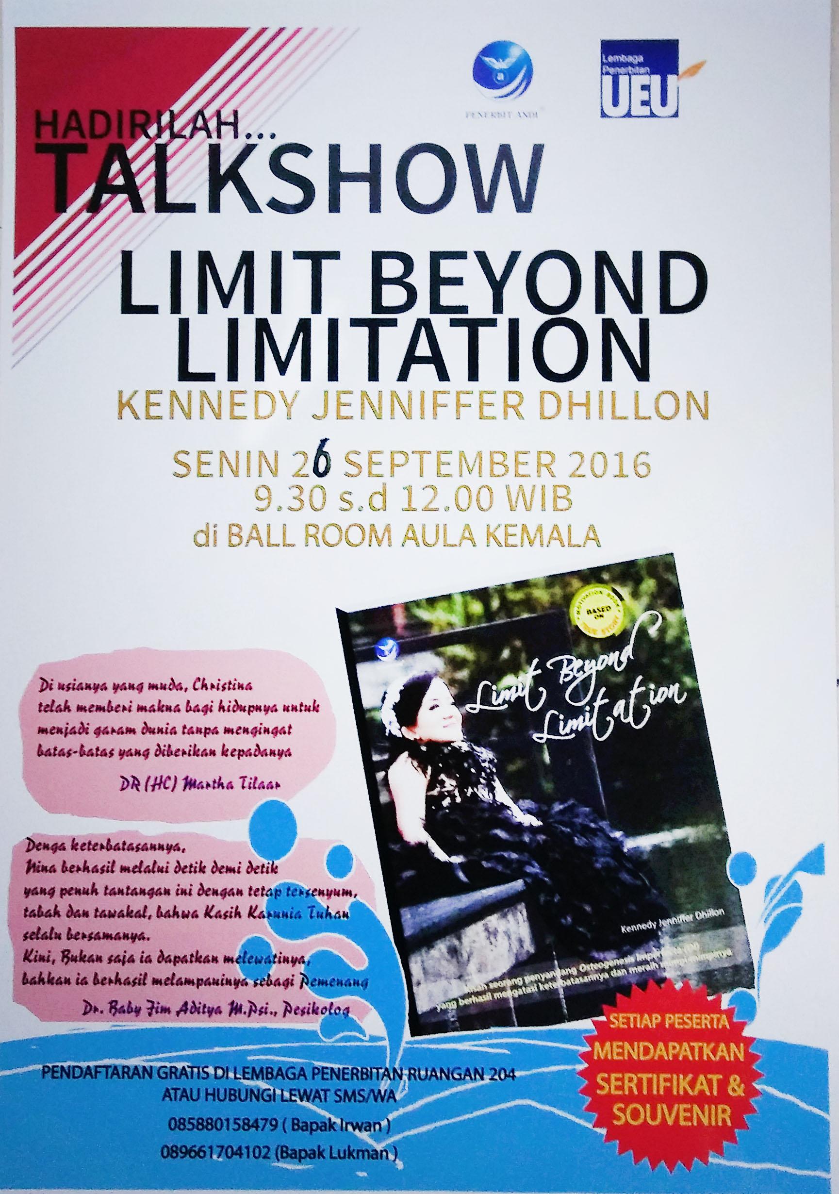 Talkshow Limit Beyond Limitation Universitas Esa Unggul 2016
