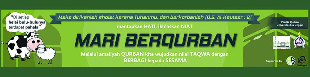 Peringatan Idul Adha dan Pemotongan Hewan Qurban di Universitas Esa Unggul 2016