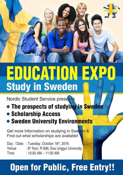 Education Expo Study in Sweden Universitas Esa Unggul
