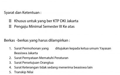 Pengumuman Beasiswa DKI Jakarta 2016