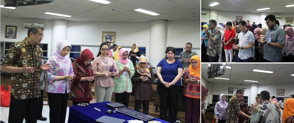 Pembacaan Doa Bersama Seluruh Warek, Dekan, staff pengajar dan karyawan