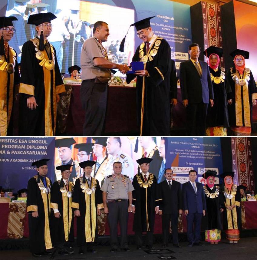 Pembicara Orasi Ilmiah Irjen Pol. Prof. Dr. Iza Fadri, SIK, SH, MH