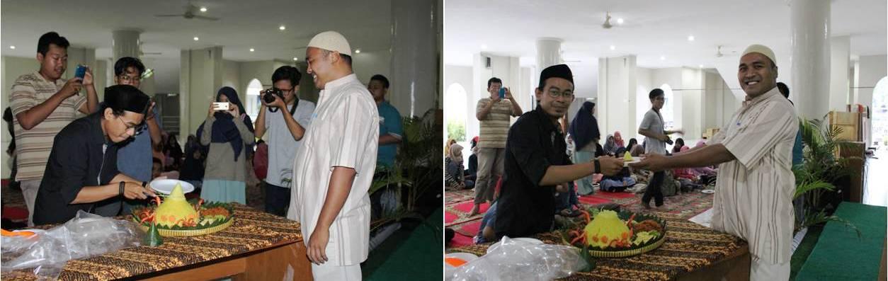 Penyerahan Tumpeng Oleh Ketua LDK IKMI kepada Bang Rahmadadi
