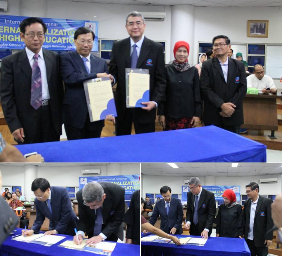 Saat Penandatanganan Kerjasama dengan Asia University Taiwan