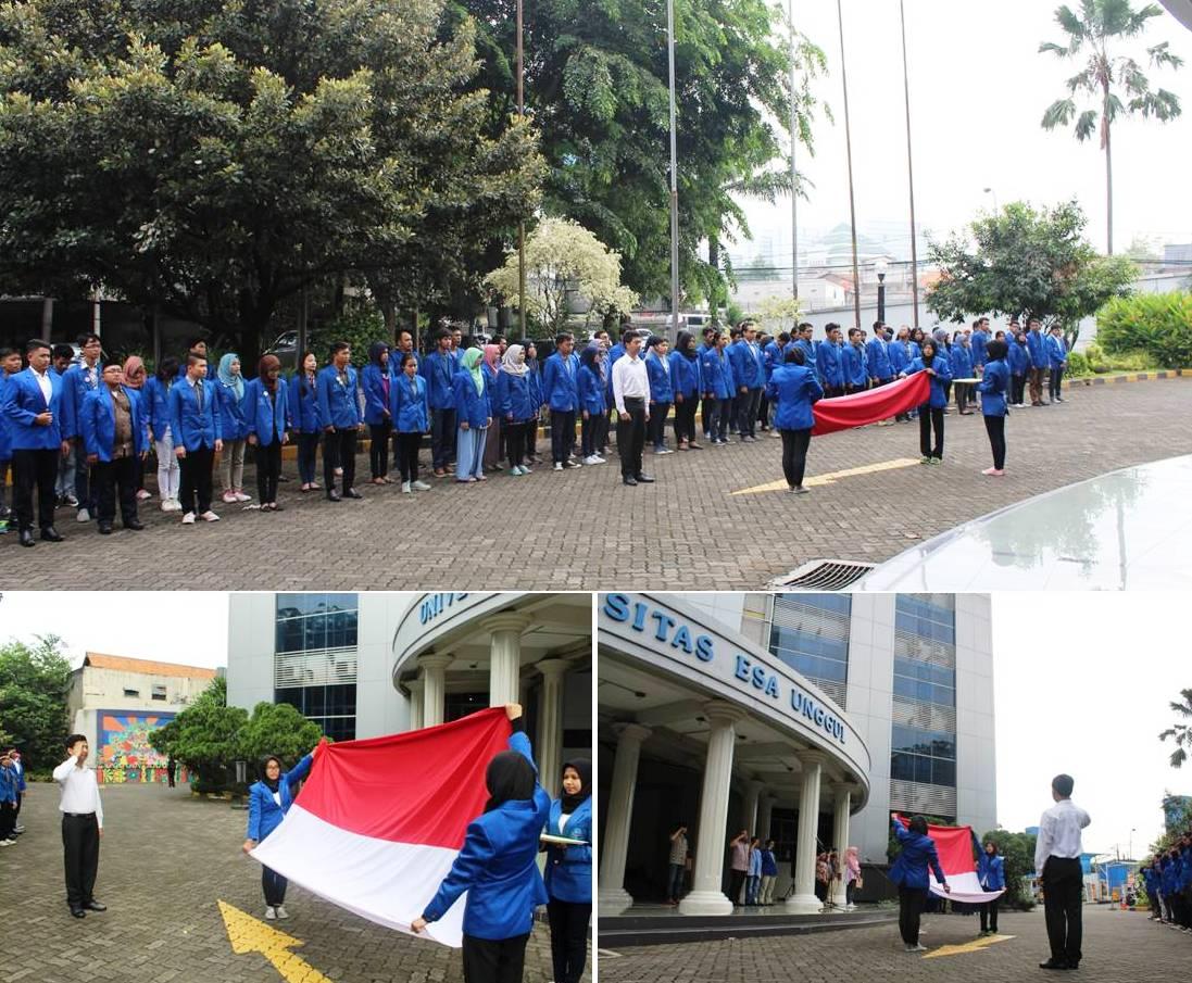 Upacara Memperingati Hari Sumpah Pemuda di Universitas Esa Unggul