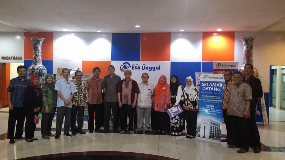 Visitasi Akreditasi Program Studi Teknik Perencanaan Wilayah dan Kota Universitas Esa Unggul