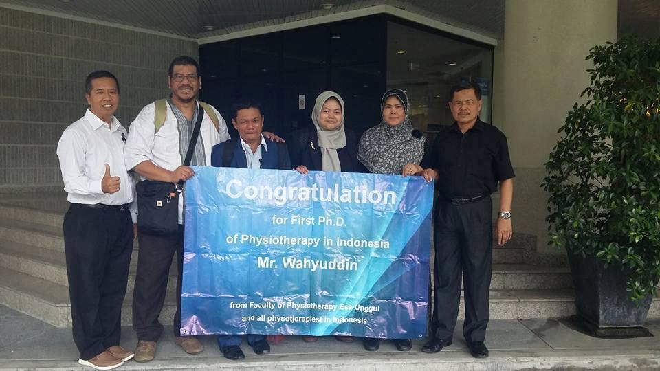 Bapak Wahyuddin atas pencapaian Gelar Doktor (S3)