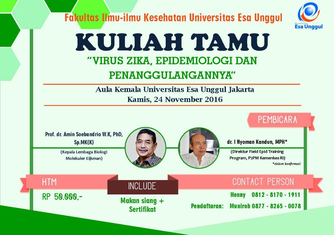 Kuliah Tamu Fakultas Ilmu Kesehatan
