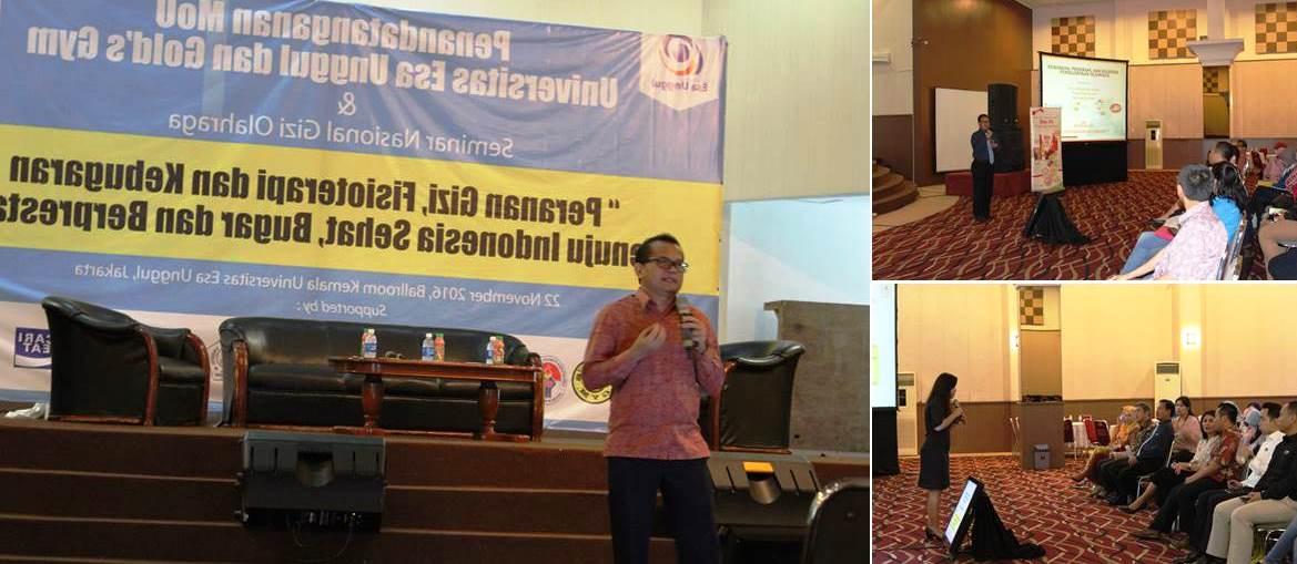 Pembicara di Acara Seminar Gizi Olahraga