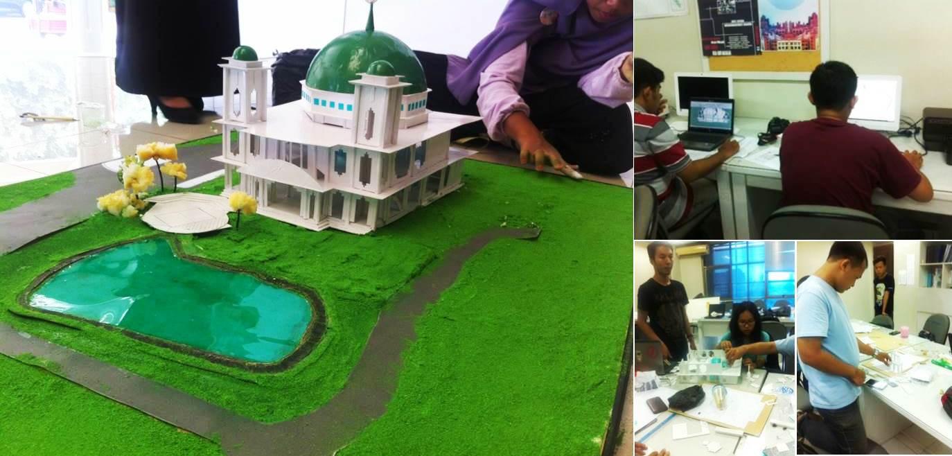 Pembuatan Bangunan Mesjid dan Landscape Kawasan