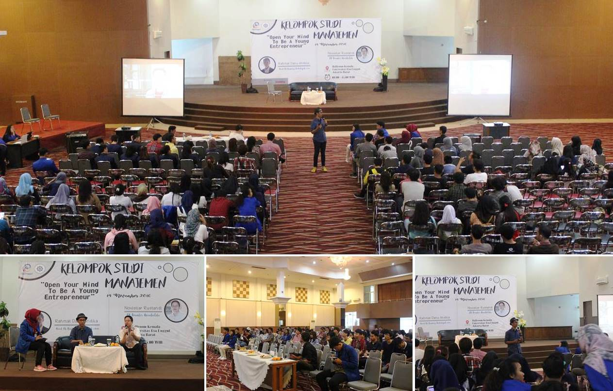 "Seminar ""Open Your Mind To Be A Young Entrepreneur"" Kelompok Studi Manajemen Universitas Esa Unggul"