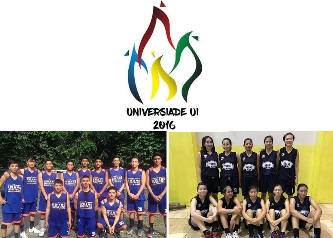 Tim Basket putera dan puteri Esa Unggul Runner Up di Universiade UI 2016
