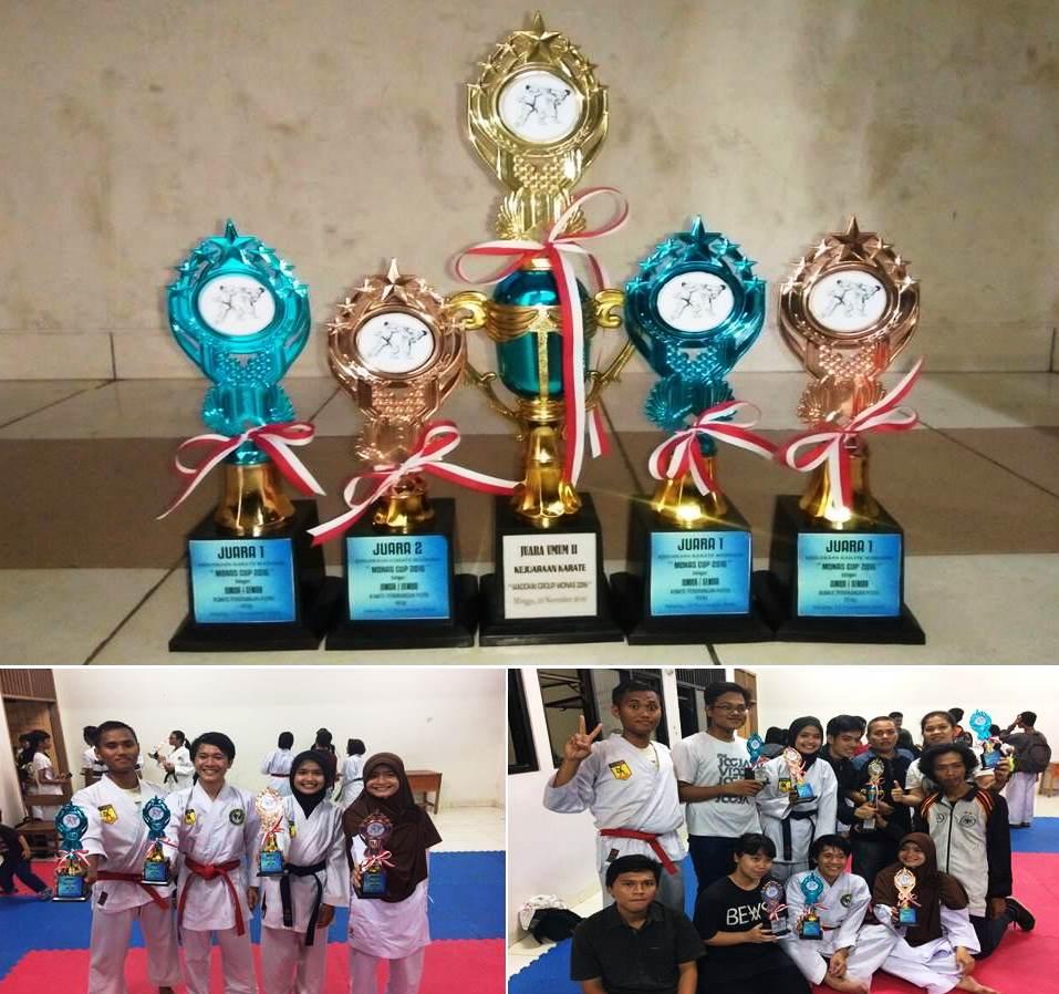 UKM Karate Universitas Esa Unggul Juara Umum II Tingkat Jatabek