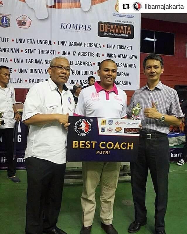 Best Coach putri di Libama Jakarta 2016