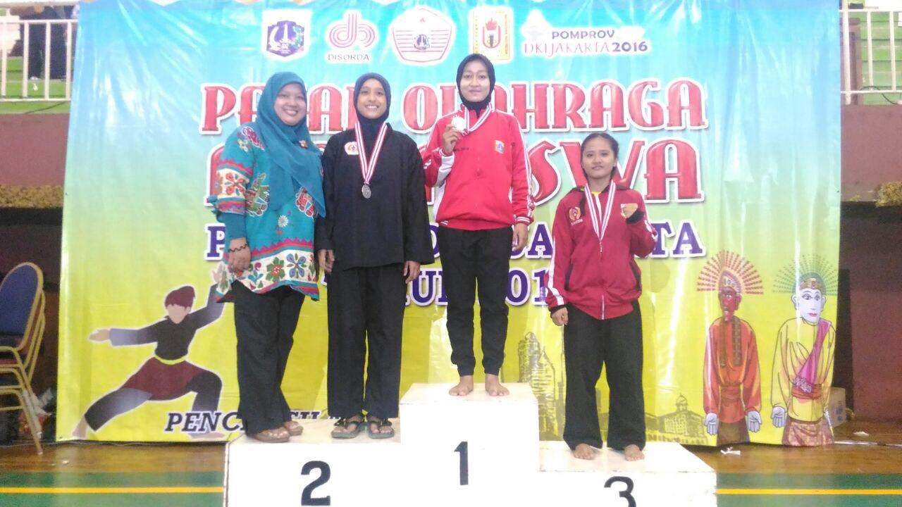 Ely Syafitri Juara III Pencak Silat Pomprov DKI Jakarta, 2016