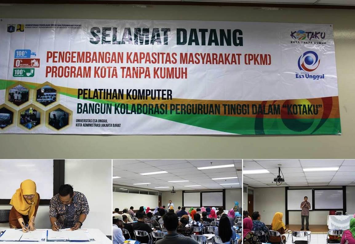 PU Jakarta Barat Teken MOU dengan Fakultas Teknik Universitas Esa Unggul