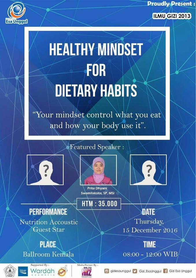Seminar Gizi Healthy Mindset For Dietary Habits