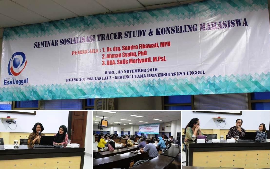 Seminar Sosialisasi Tracer Study dan Konseling Mahasiswa