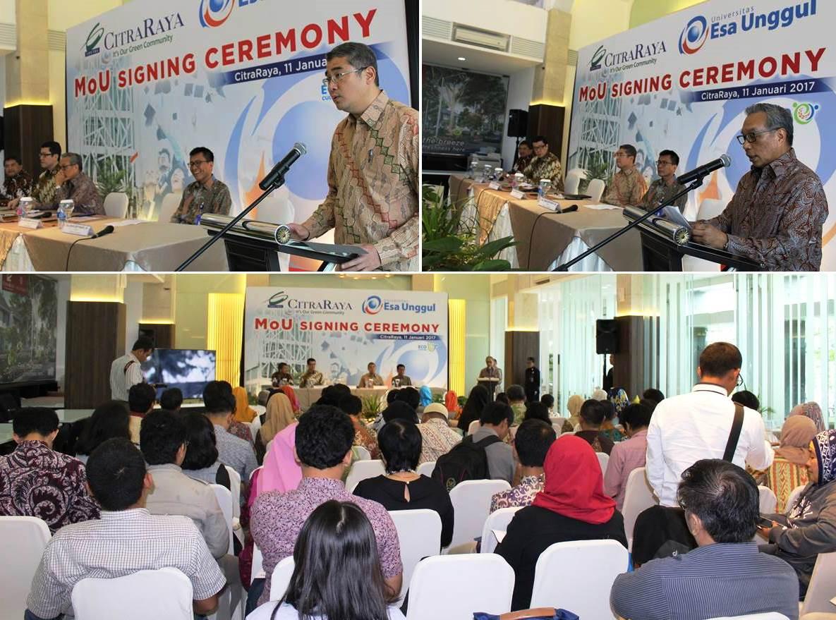 Kata Sambutan Oleh Rektor Universitas Esa Unggul dan Direktur PT Ciputra Residence