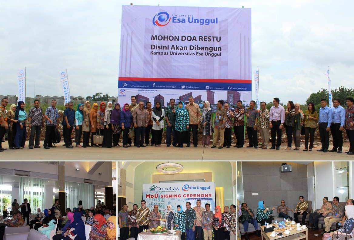Universitas Esa Unggul Bekerja Sama Dengan CitraRaya Tangerang Segera Membangun Kampus Citra II