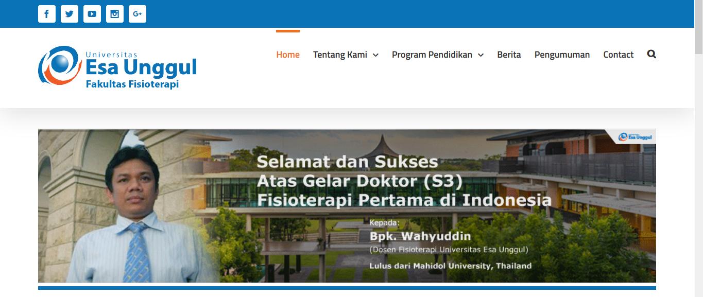 Web Fakultas Fisioterapi