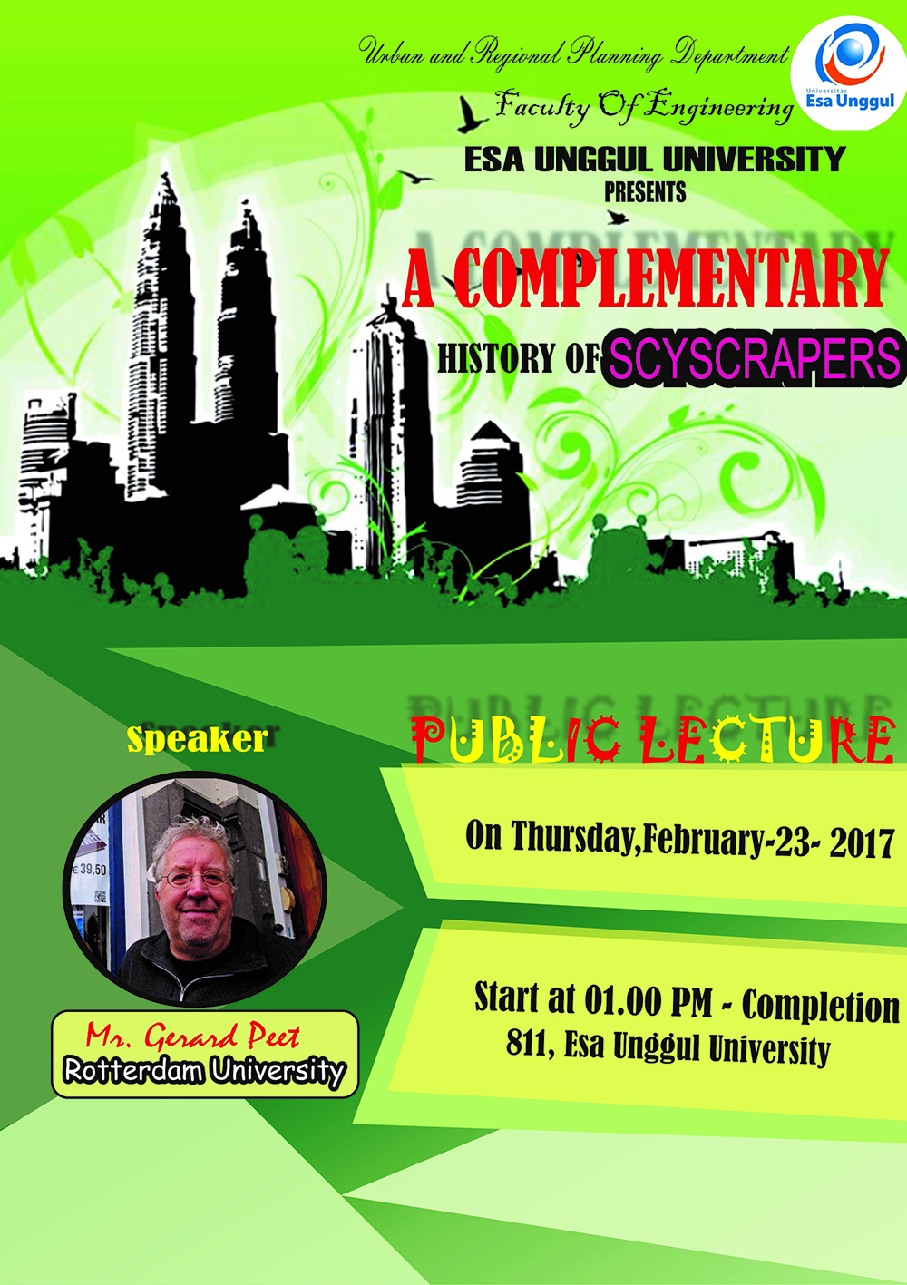 "Public Lecture ""A Complementary History of Skysrapers"""