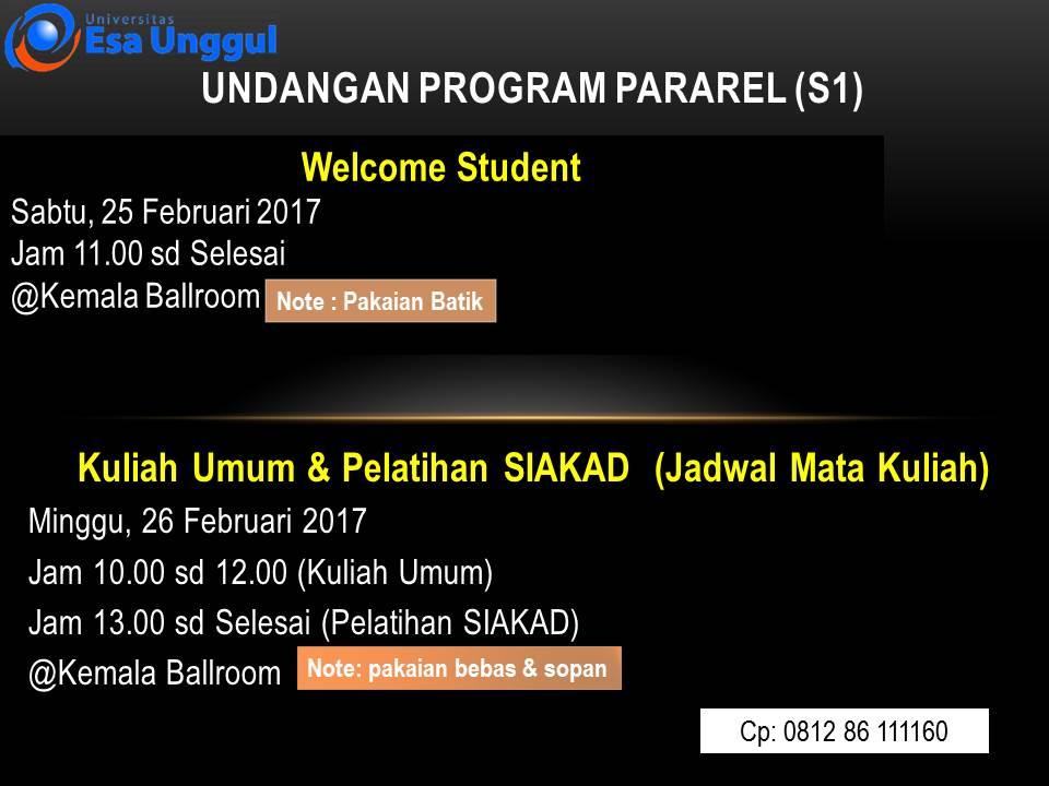 Undangan Program Paralel (S1)