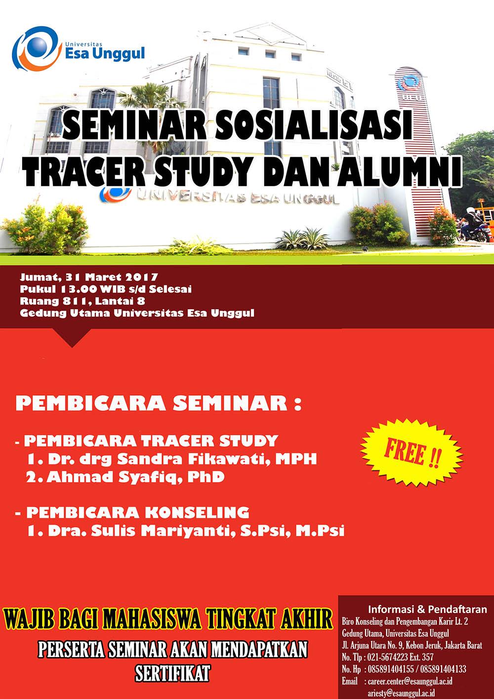 Seminar Sosialiasi Tracer Study Dan Alumni