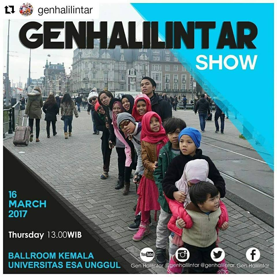 Gen Halilintar Show in Esa Unggul University