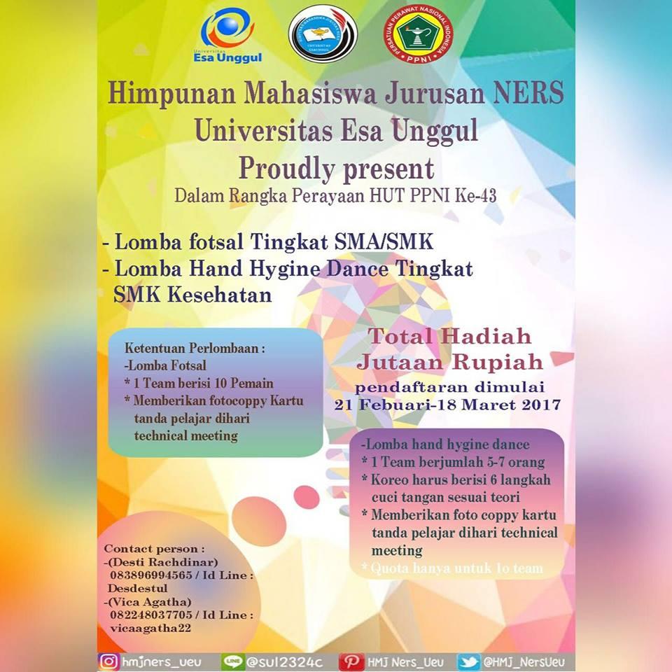 HMJ NERS Universitas Esa Unggul Proudly Present Perayaan HUT PPNI