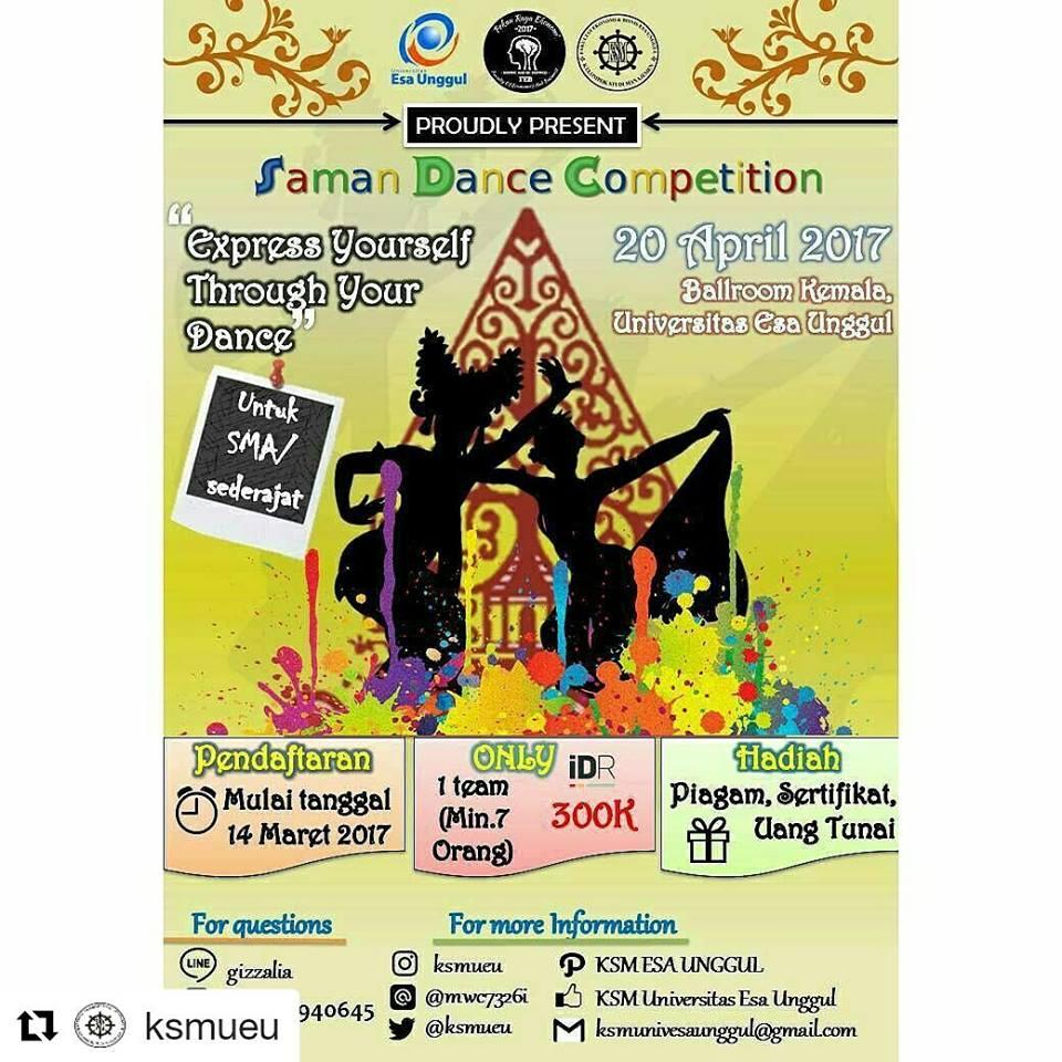 Kelompok Studi Manajemen Proudly Present Saman Dance Competition