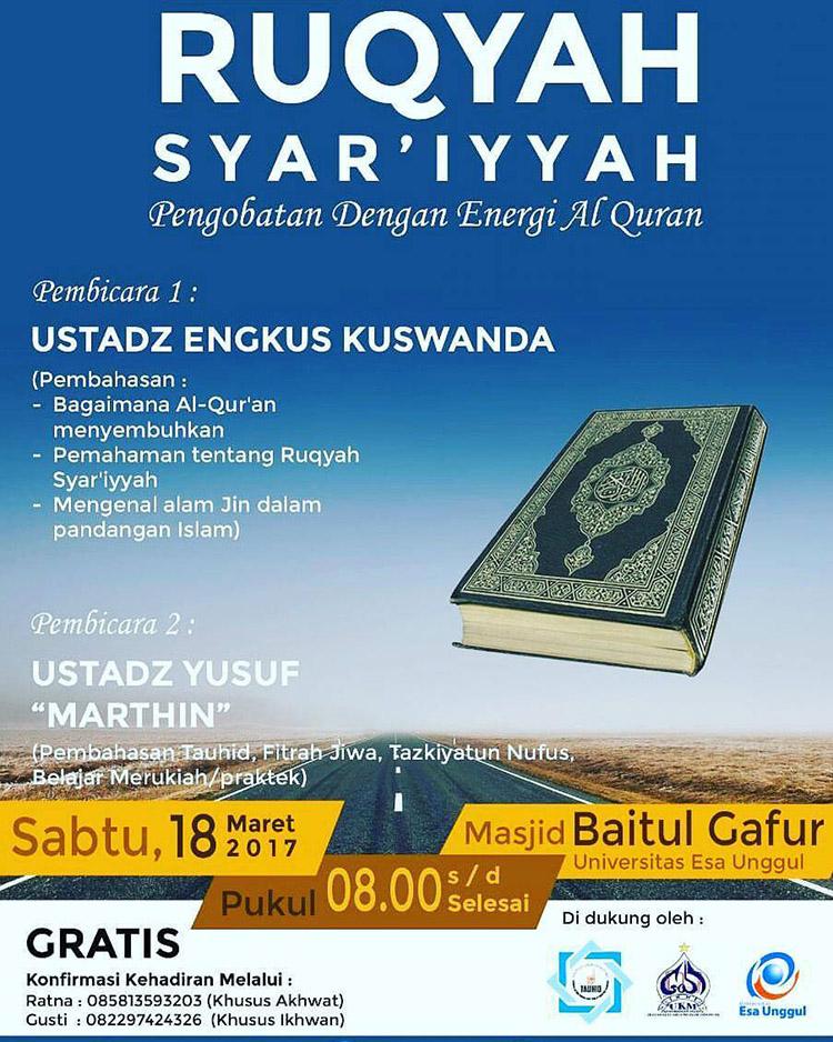 Pelatihan Ruqyah Syar'iyyah