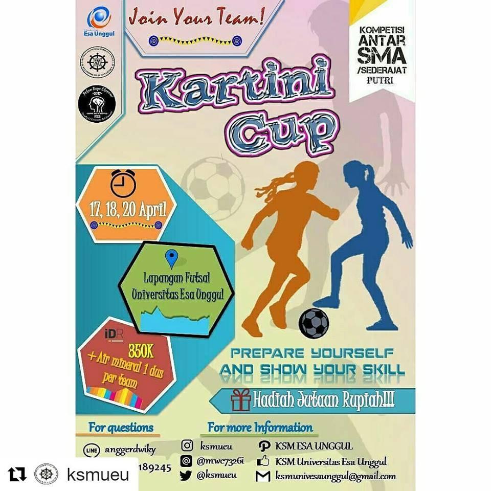 """Kelompok Studi Manajemen Proudly Present """"Pekan Raya Ekonomi"""" Kartini Cup"""