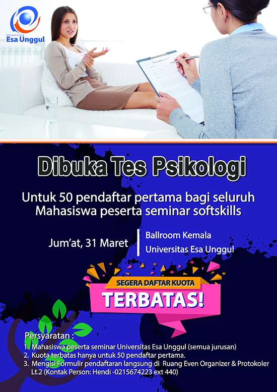 Ikutilah Tes Psikologi Gratis di Universitas Esa Unggul