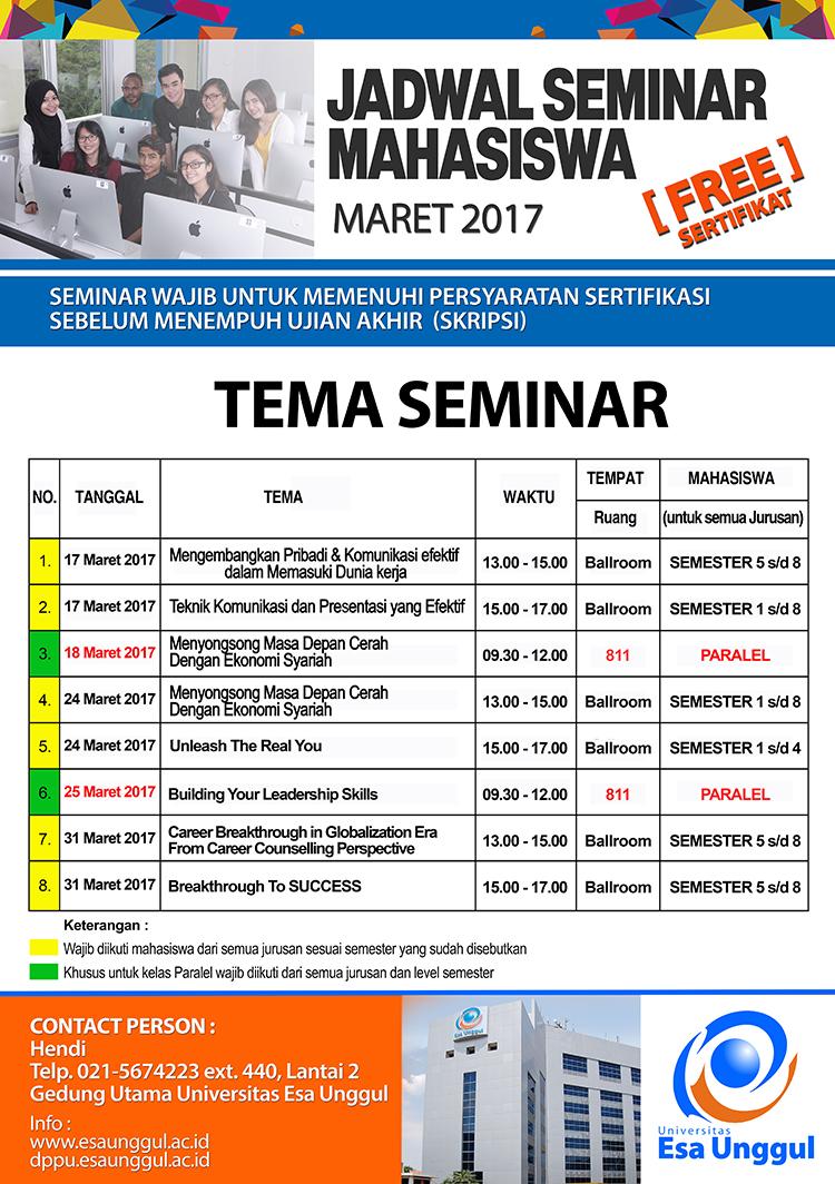 Seminar Bulan Maret 2017