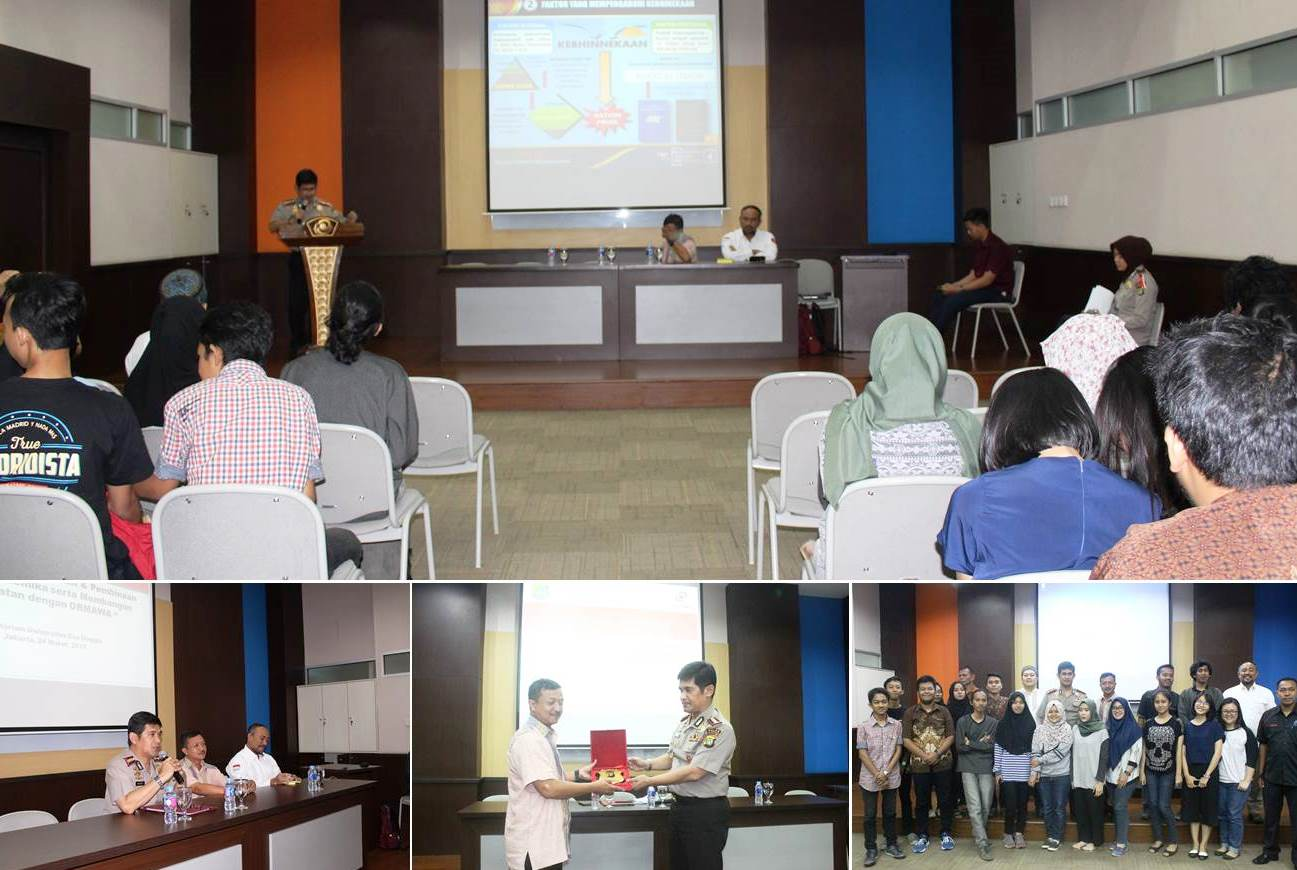 Silaturrahmi Kampus Polda Metro Jaya di Universitas Esa Unggul