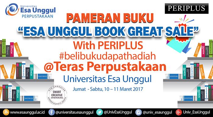 """Hadirilah Pameran Buku """"Esa Unggul Book Great Sale"""" with PERIPLUS"""