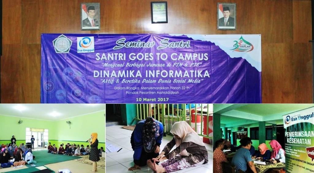 Universitas Esa Unggul Hadir Pada Harlah Ke 32 Pondok Pesantren Asshiddiqiyah