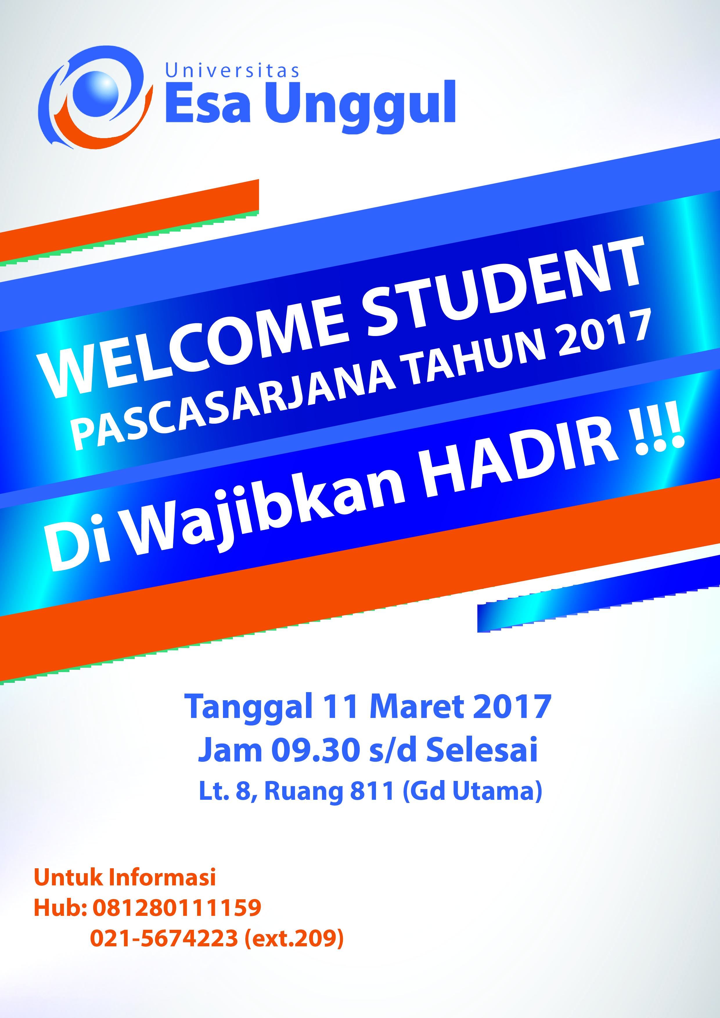 Welcome Student Program Pascasarjana 2017