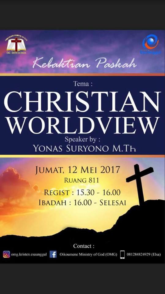 Kebaktian Paskah dengan Tema Christian Worldview