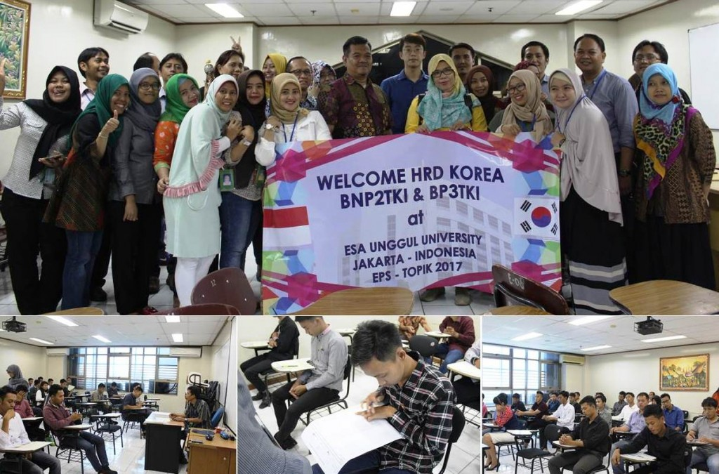 Pelaksanaan Ujian Program G to G ke Korea Sektor Manufaktur di Universitas Esa Unggul