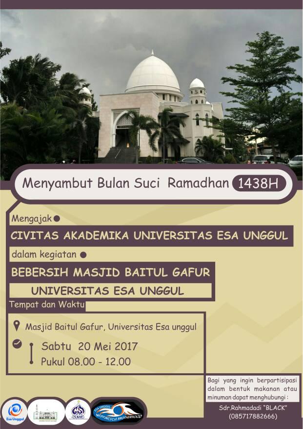 Bebersih Masjid Jelang Ramadhan 1438 H