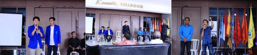 Ketiga Paslon Calon Ketua dan Wakil Ketua BEM Universitas Esa Unggul