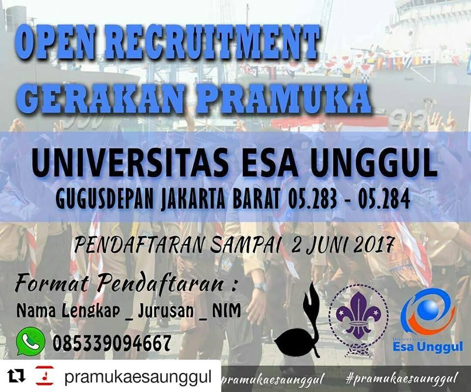 Open Recruitment Pramuka Universitas Esa Unggul